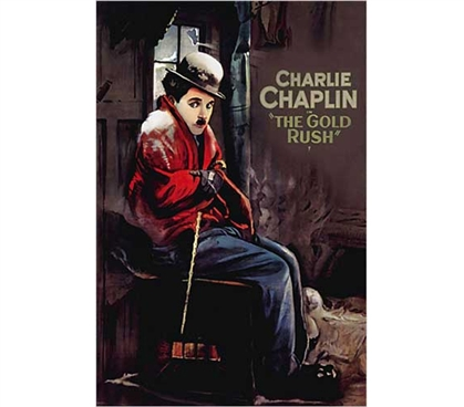 Decorate Your Dorm - Charlie Chaplin - Gold Rush Poster - Adds To Dorm Room Decor