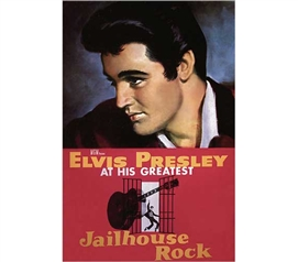 Best Dorm Decor - Elvis - Jailhouse Rock Poster - Fun Supplies For College
