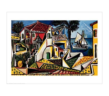 Refines Your Dorm Wall Decor - Paysage Mediterraneen - Picasso Poster - Cool College Supplies