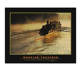 Working Together Inspirational College Dorm Poster dorm room size inspirational Working Together college poster