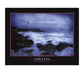 Success Poster - Great Dorm Wall Poster For College Students