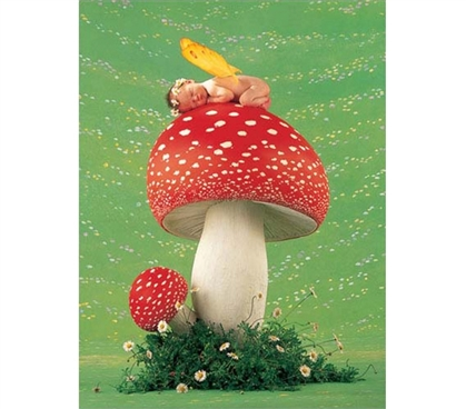 Erin as Toadstool - Anne Geddes Poster To Make College Students Happy