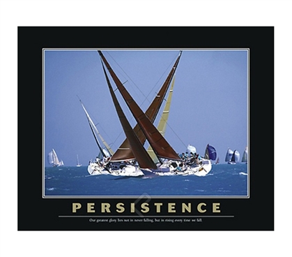 Persistence Poster - Motivational Dorm Wall Poster For College Students