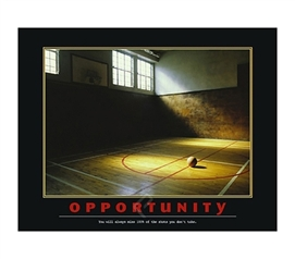 Opportunity Poster - Take Chances And Stay Motivated In College