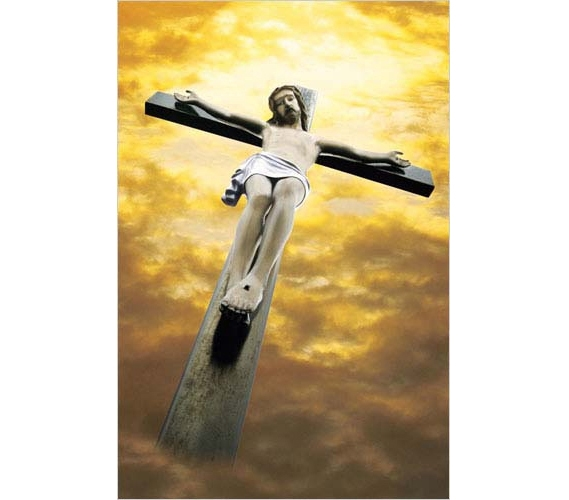 crucified christ poster wall decor religious posters college dorm