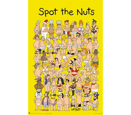 Spot the Nuts Poster - Hilarious Addition To Any Dorm Room Wall