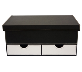 Black & White Series College-Ave - Bottom Drawers White Dorm Essentials Dorm Necessities Dorm Room Storage