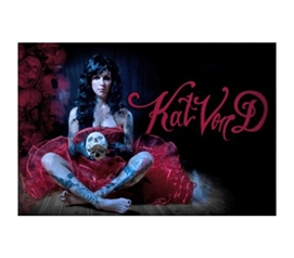 Kat Von D Sitting in Pretty Coat Poster