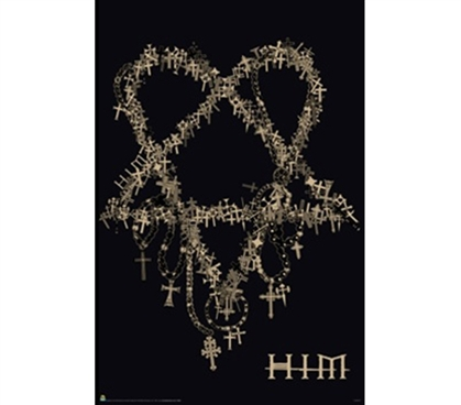 HIM Band Cross Heart Poster