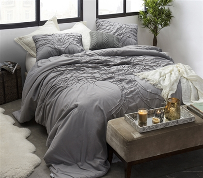 Living Tree Twin Extra Long Textured Comforter Made with Soft Microfiber College Bedding Materials