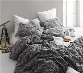 Twin Extra Long Comforter Terra Cotta Texture Gray College Dorm Bedding