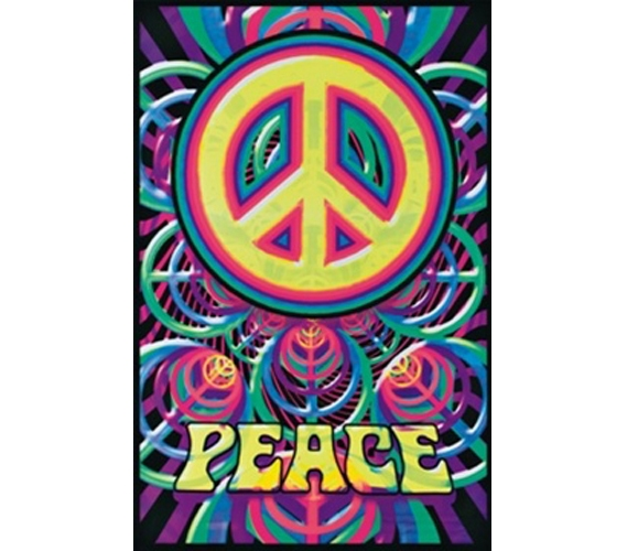 Peace Sign College Decor Poster for Dorm