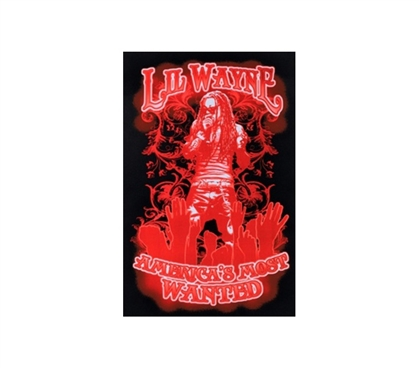 Red Lil Wayne Most Wanted Rap Poster