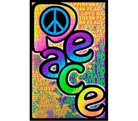 Fun Items Are Dorm Essentials - Peace Love Happiness Poster - Best College Decor