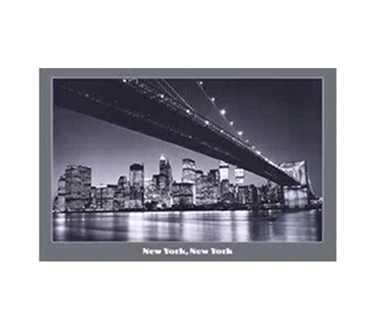 NY Manhattan Bridge Dorm Poster
