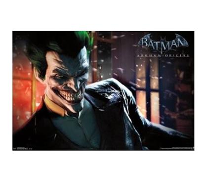 Add To Your Dorm Room - Arkham Origins - The Joker Poster - Fun Wall Decor