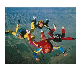 Supplies For College - Skydiving - Free Fall Formation Poster - Cool Dorm Wall Decor