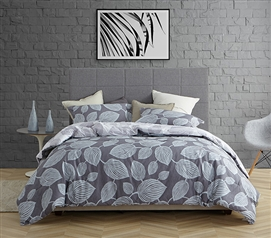 Super Soft Cotton Twin XL Bedding Stylish Evening Paradise College Comforter with Botanical Leaf Design