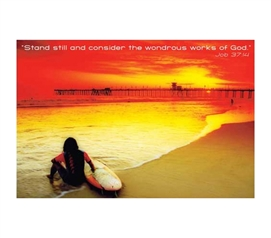 Bright Wondrous Beach Poster