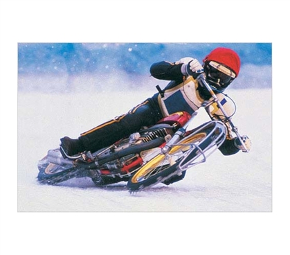Sports Posters Are Ideal Dorm Decor - Ice Biker Poster - Cool Dorm Room Supply