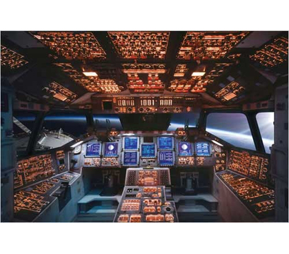 Decorate Your Dorm - Columbia Space Shuttle Cockpit Poster - Very Cool Dorm Wall Decoration