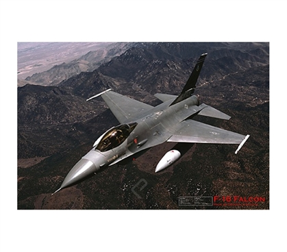 F-16 in the Sky - Fighting Falcon - Poster