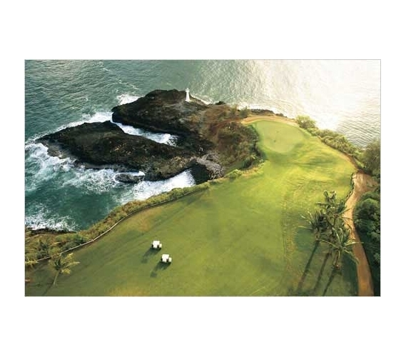 golf course hawaii coast poster cool sports posters golf posters