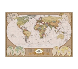 Map of the World Poster world map geography-inspired dorm room decorative poster for dorm walls