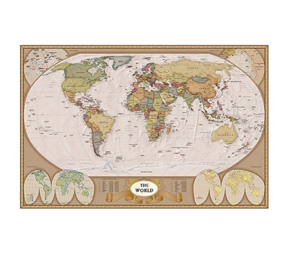 Map of the world poster detailed antique looking world map poster product reviews gumiabroncs Choice Image