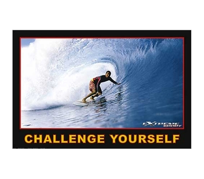 Adds To Dorm Decor Challenge Yourself Poster - Inspirational Poster For College