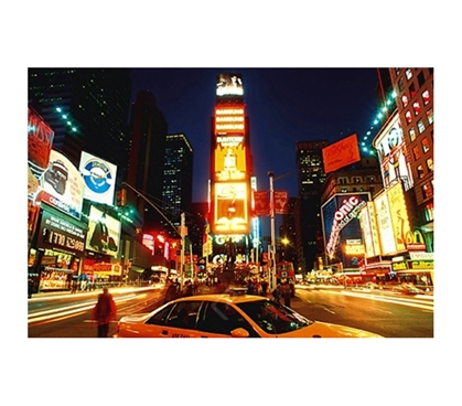 Times Square, New York Poster city-themed scene of time square at night in college dorm room decorative poster