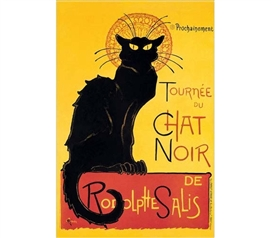 Cool Artistic Poster - Tournee du Chat Noir de Rodolphe Salis Poster - Decorate Your Dorm
