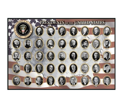 Patrioic Presidents of the United States Poster
