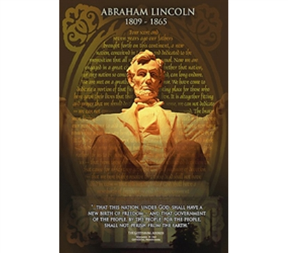 Abraham Lincoln Monument, The Gettysburg Address Poster
