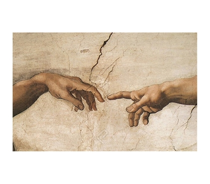 Creazione di Adamo (Creation of Adam) Italian, Hands Poster