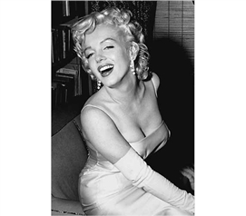 Decorations For Dorms - Marilyn Monroe Posing Poster - Glamorous College Wall Decor