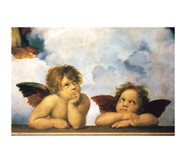 Cherubini Angels (Virgin Mary detail) - Raphael  Poster