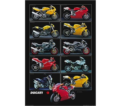 Ducati Chart Poster Dorm College Motorcycle Posters Dorm Room Products College Items Cool Dorm Posters For Cheap
