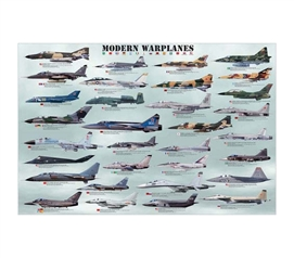 Must-Have Decor For Guys Dorms - Modern Warplanes Poster - Cool Dorm Decor