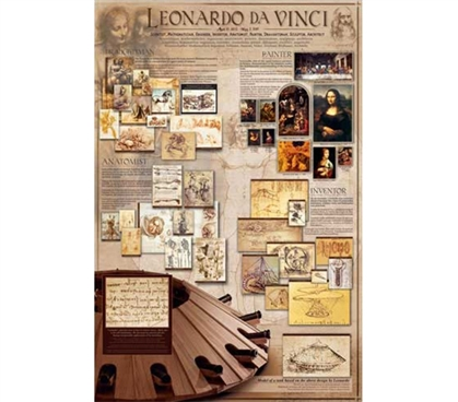 Crafty Inventions of Leonardo da Vinci - Wall Poster for College