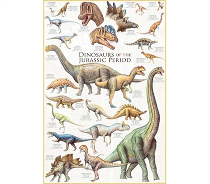 Awesome & Vibrant Dinosaurs of the Jurassic Period - Poster Essential