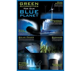 Inspiring and Clean - Green Alternative For Our Blue Planet - Wall Poster