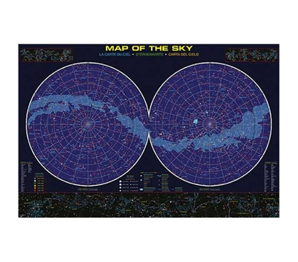 Learn All About The Sky - Educational Poster Detailing Stars. Great Dorm Decor Idea to add life to a College Dorm Room Ceiling.