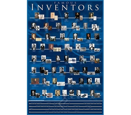 Cool Famous Inventors College Wall Poster