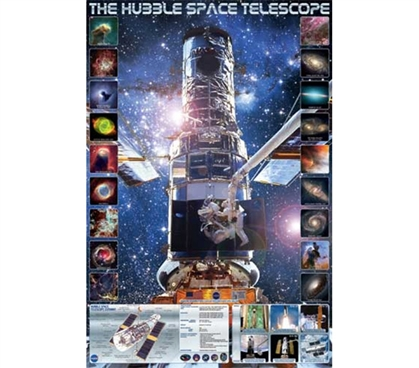 Genius Hubble Space Telescope Poster for College Students