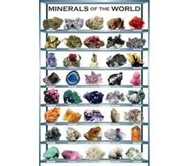 Educational & Informative - Minerals of the World - Poster