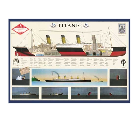 Titanic Anatomy Poster Cool College Supplies Must Have Dorm Products ...