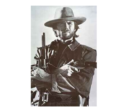 Iconic Clint Eastwood & Revolver B&WPoster