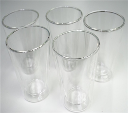 Double Wall Glass Cup - Set of 5