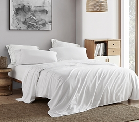 300TC Saudade Portugal Twin XL Sheet Set - Washed Sateen